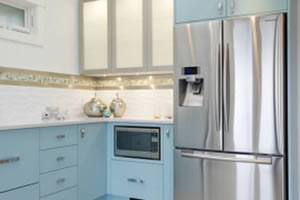 Contemporary kitchen cabinets in Victoria BC