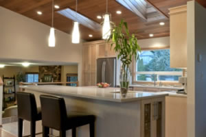 Transitional kitchen cabinets in Victoria BC